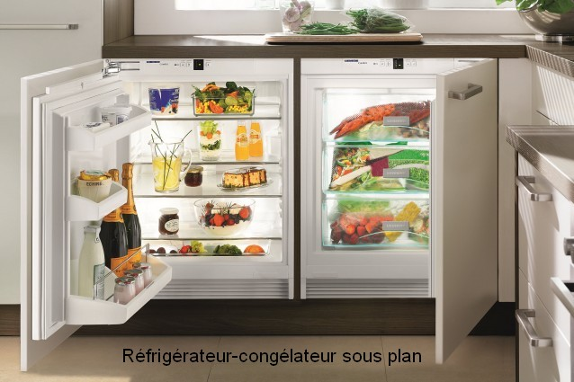 Refrigerateur sous plan - Refrigerateur horizontal encastrable ...